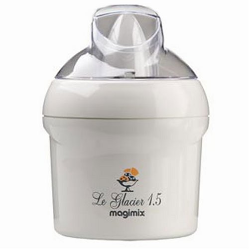 magimix le glacier 1 5 ltr ice cream maker white kitchen and cookware. Black Bedroom Furniture Sets. Home Design Ideas