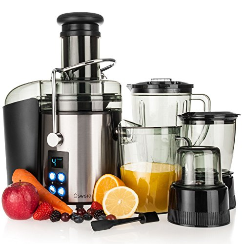 Savisto 4 in 1 800w power juicer with digital lcd display for Alpine cuisine power juicer