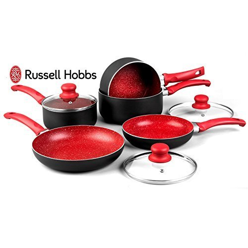 Russell Hobbs 8 Piece Induction Non Stick Stone Pan Set