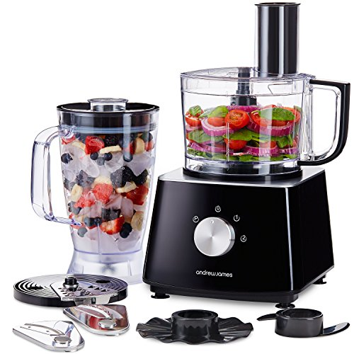 Andrew James Food Processor With Blender In Black  Watts