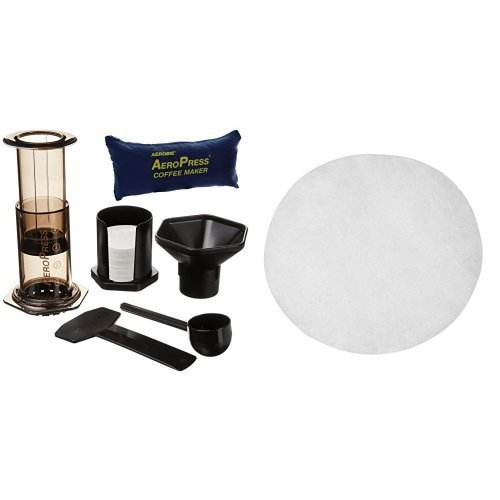 Aerobie Aeropress Coffee Maker Filters : Aerobie AeroPress Coffee Maker with Tote Storage Bag and Filter Papers, Pack of 350 Kitchen ...