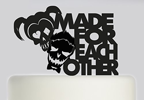 Wedding Cake Topper Suicide Squad Made For Each Other