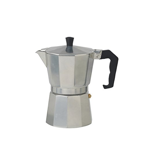 cooks professional italian espresso coffee maker stove top macchinetta in 2 or 6 cup 2 cup. Black Bedroom Furniture Sets. Home Design Ideas